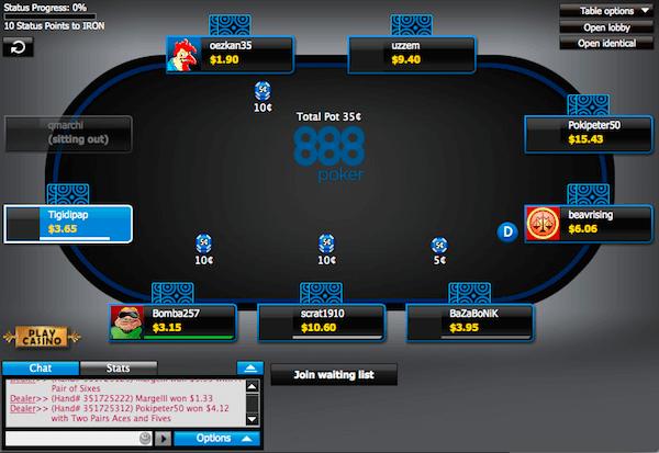 888poker Tavolo