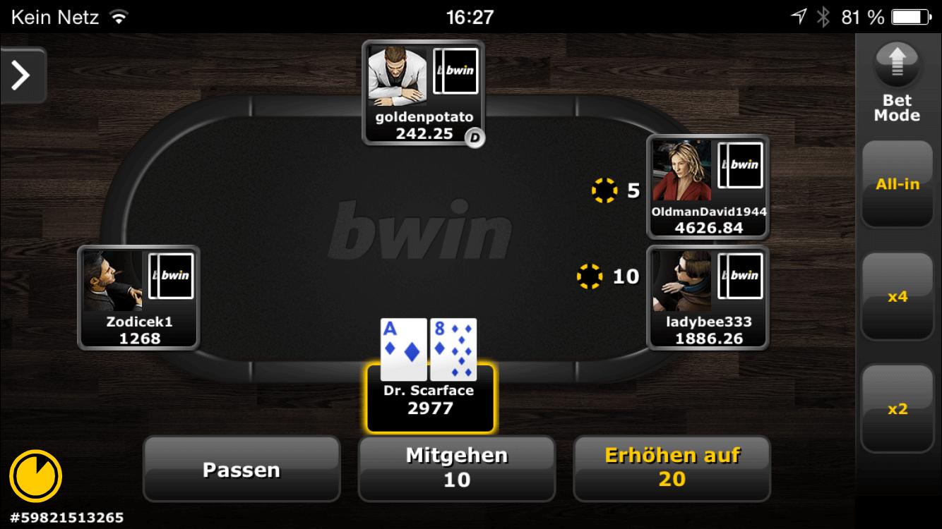 Bwin Poker Tavolo